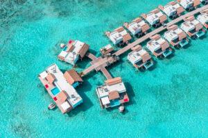 Emerald Maldives Water Villa overhead